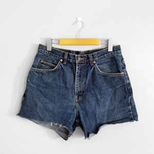 LEVI'S Dark Wash Denim  High Rise Shorts